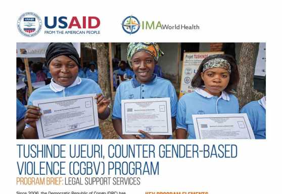Tushinde Ujeuri, Counter Gender-Based Violence (CGBV) Program: Legal support services