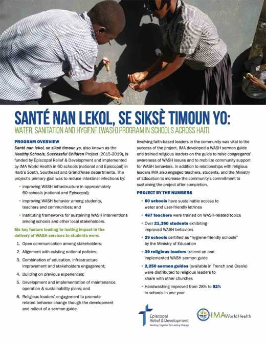 Santé nan lekol, se siksè timoun yo, also known as the Healthy Schools, Successful Children Project overview