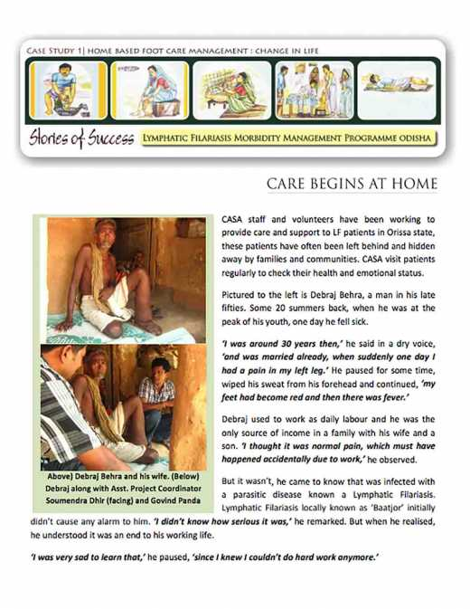 Case Study 1: Home-Based Foot Care Management: Change in Life