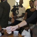 Ambassador White visits neglected tropical disease program and TOMS shoe distribution