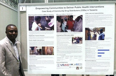 Dr. Deogratias Damas discusses the successful use of community drug distributors in IMA's Tanzania programs at the 2013 APHA Annual Conference.