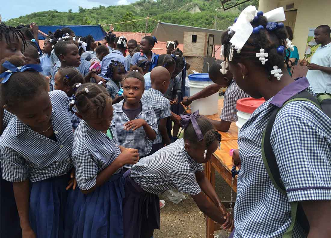 Hand washing before meals prevents disease