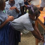 A celebration for handwashing makes smiles in Haiti