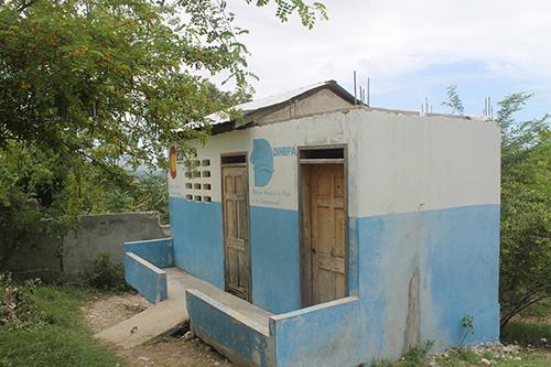 latrine front