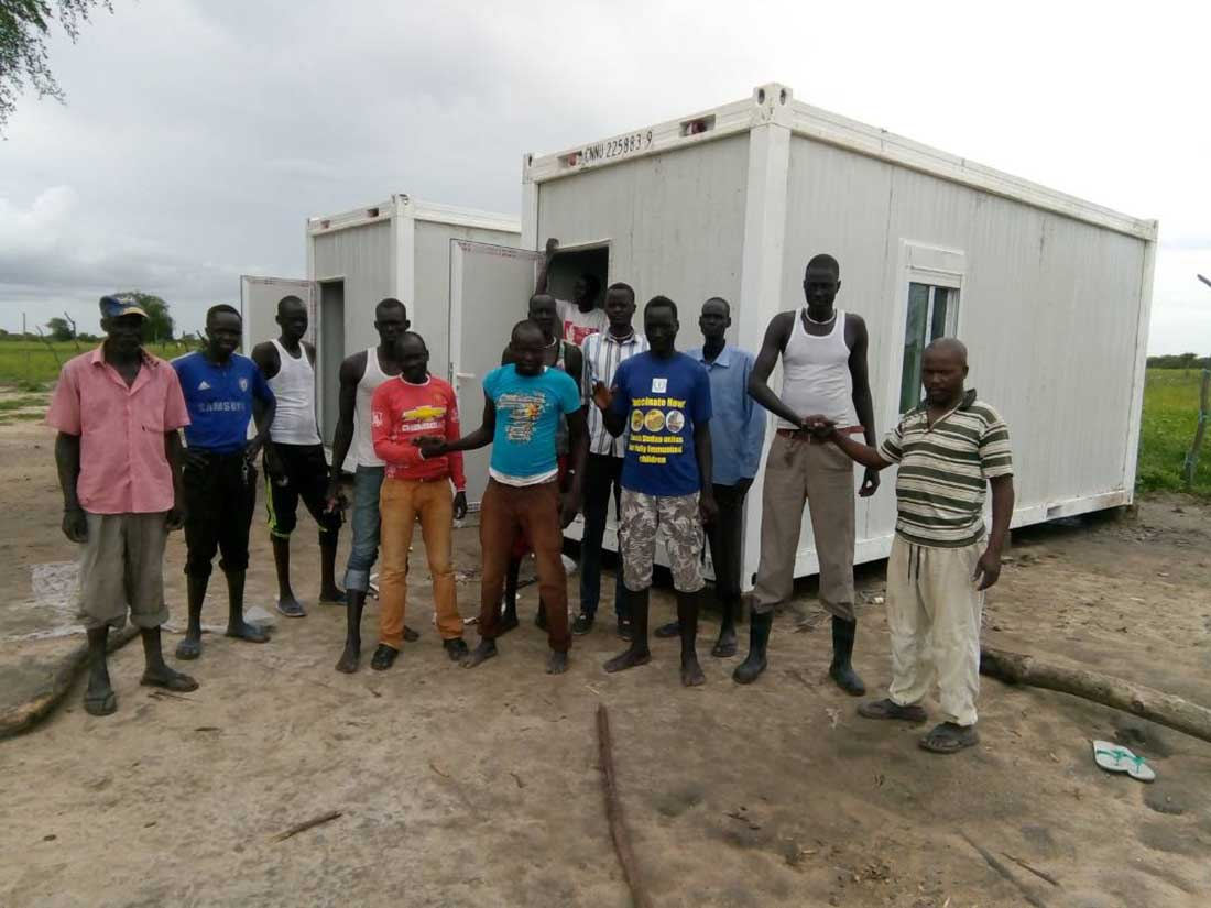 The team that helped ensure health, healing and well-being for all in South Sudan. (IMA World Health photo)