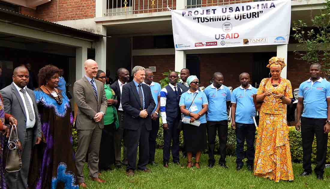 More than 120 people attended the kickoff in Bukavu, including USAID partners.