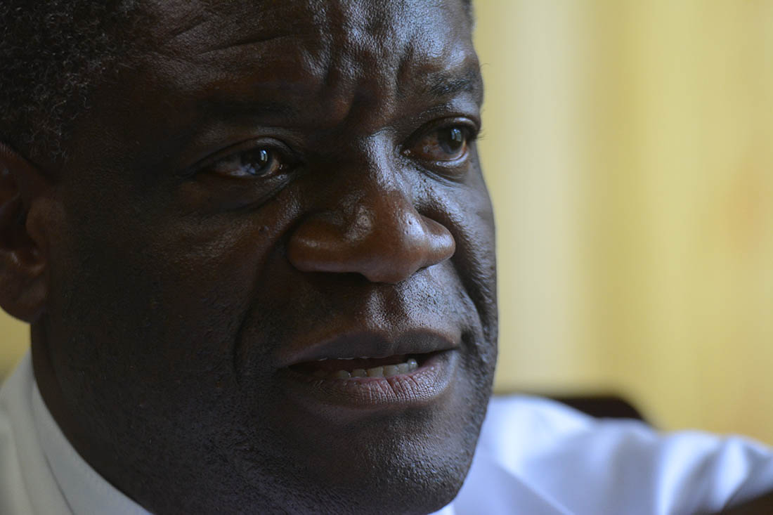 A portrait of Dr. Denis Mukwege taken in February 2014. (Christopher Glass/IMA World Health)