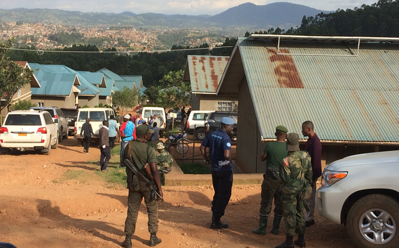 Local authorities investigating the aftermath of an attack on an Ebola response clinic in Butembo in which a physician was shot and killed.