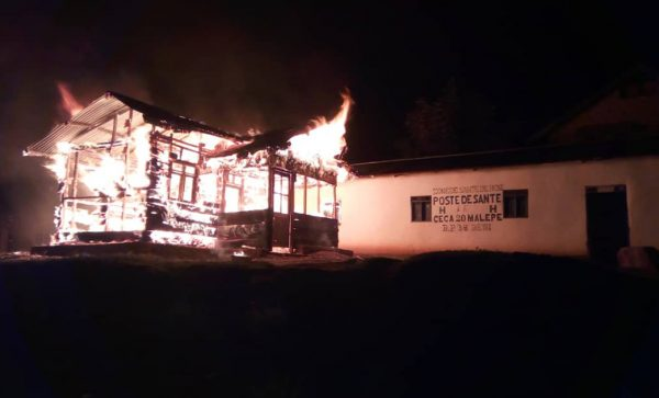 This Ebola clinic was burned during an attack in December in Beni, DRC.